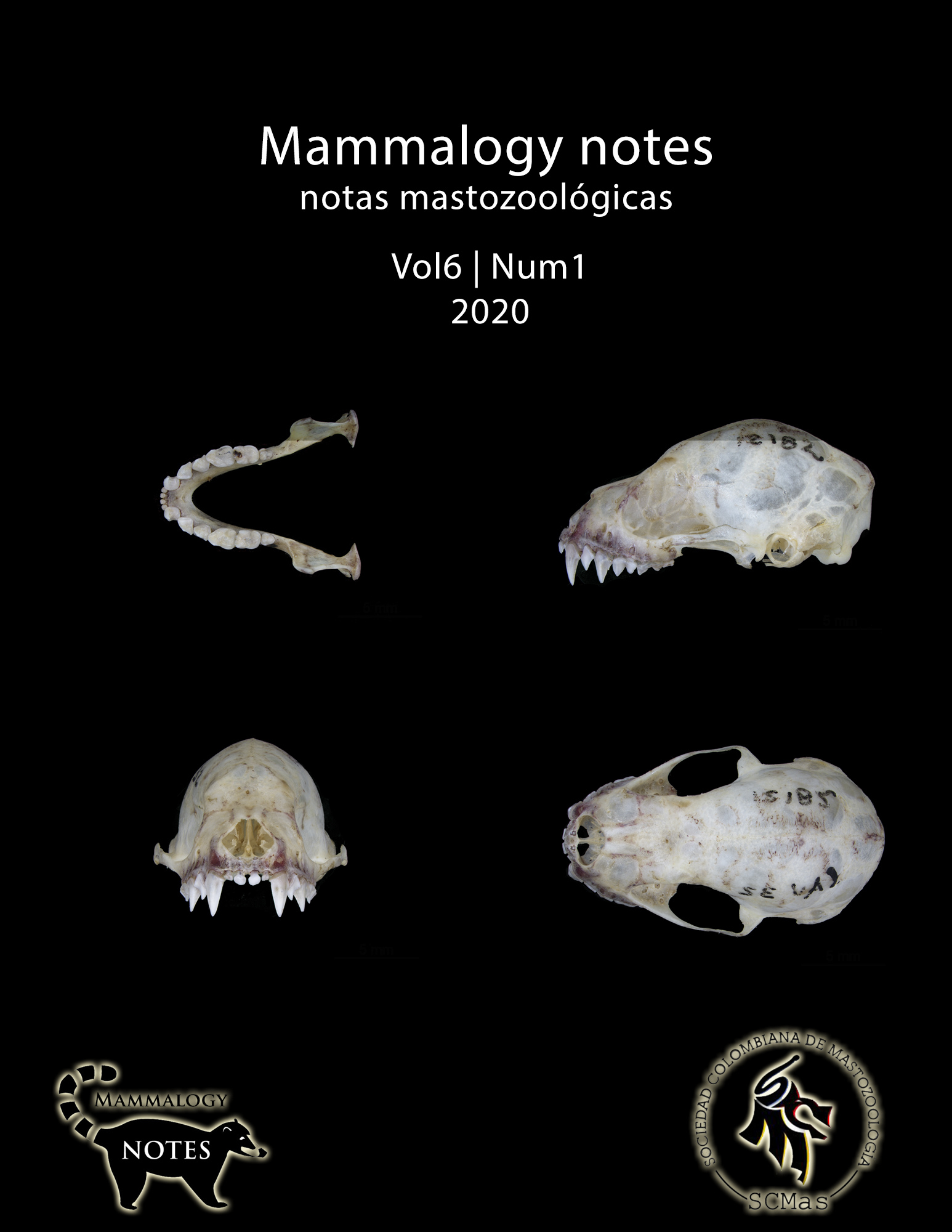 Mammalogy Notes. SCMas. Early View